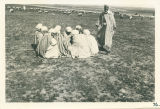 A group of Arabs who came to view our camp