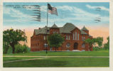 Pearsons Science Hall: photo postcard postmarked September 1938