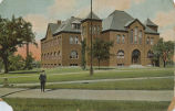 Pearsons Science Hall: photo postcard postmarked September 1914