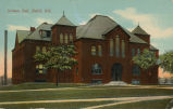 Pearsons Science Hall: photo postcard postmarked July 1911