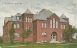 Pearsons Science Hall: photo postcard postmarked August 1910