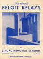 12th annual Beloit Relay program booklet (front cover)