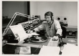 Rich Allen working in the WBCR DJ booth